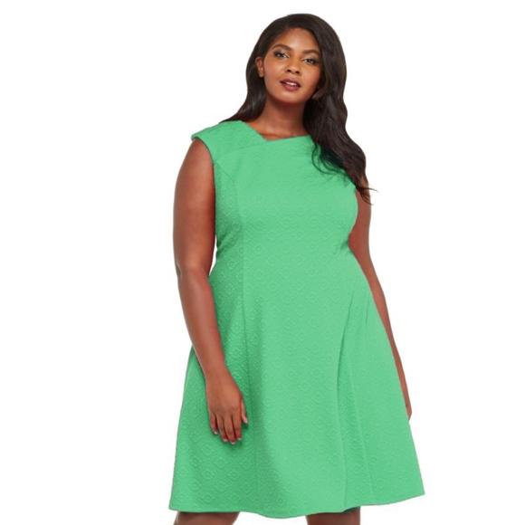 London Times Dresses Plus Size Fit And Flare Dress Poshmark